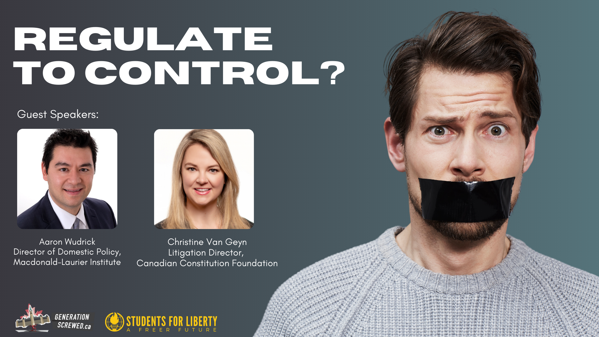 ICYMI: Regulate to Control? How Bill C-10 can give government control over what you say online.
